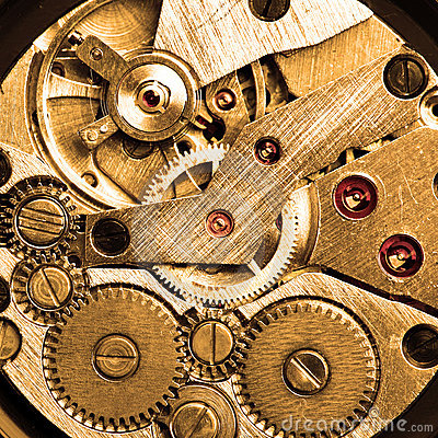 Clockwork of wristwatch