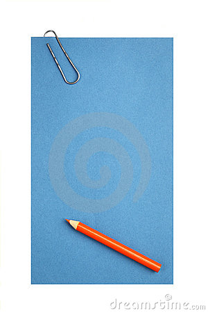 Blank paper with clip and pencil