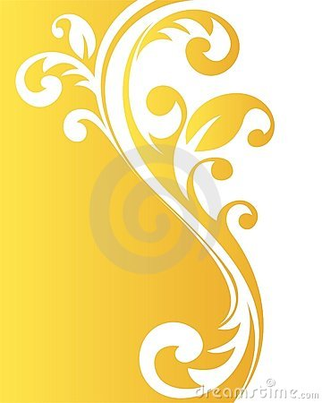 Yellow floral pattern
