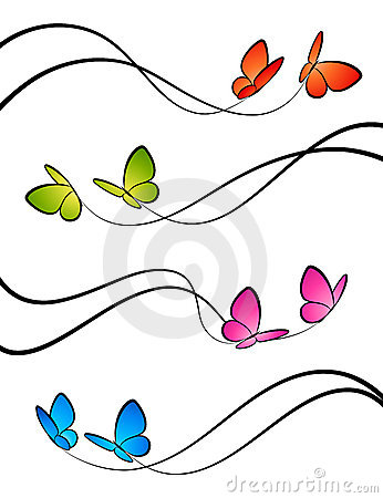 Butterflies. Elements for design.