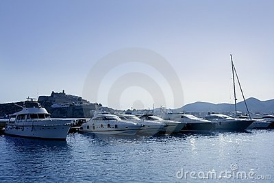 Ibiza landmark island in Mediterranean sea