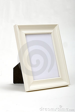White wood frame white background