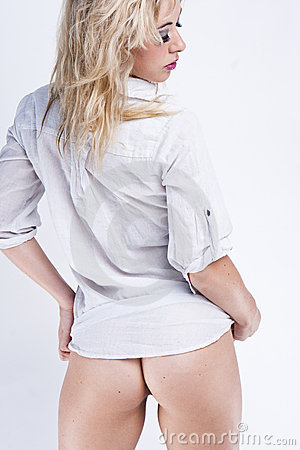 Sexy back blonde