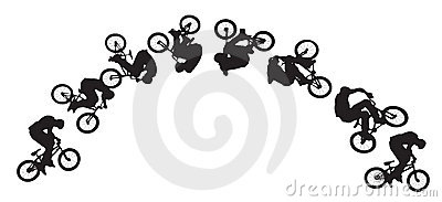 Bike jumping sequence