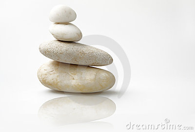 Wellness still life, tower of pebbles