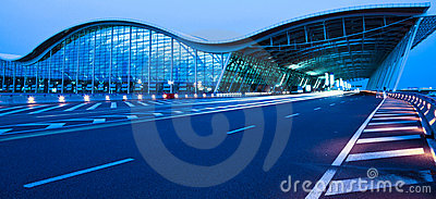 Night view of the airport