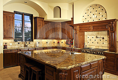 Large New Modern Home Kitchen