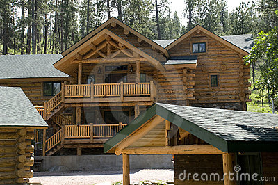Cabins in the Black Hills of South Dakota