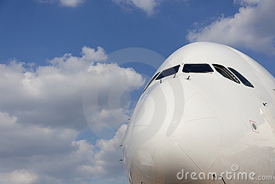 Nose of Airliner