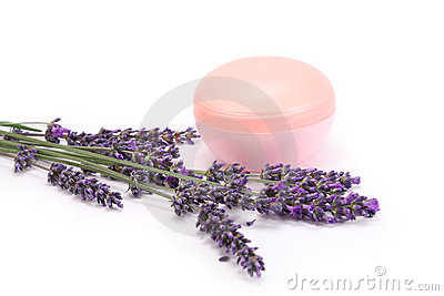 Lavender and face cream