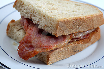 Bacon sandwich close-up