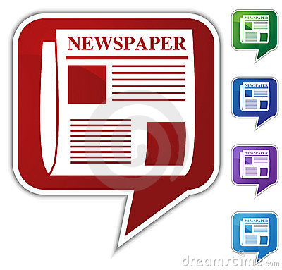 Speech Bubble Set - Newspaper