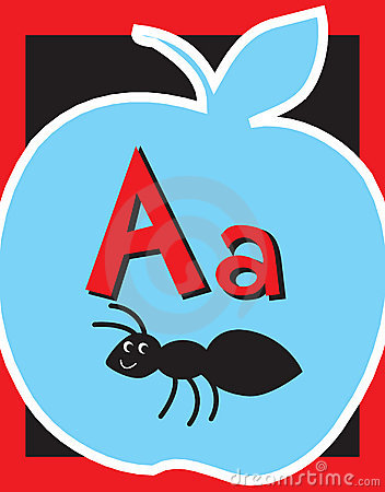 Flash Card Letter A nouns.