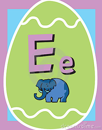 Flash Card Letter E nouns