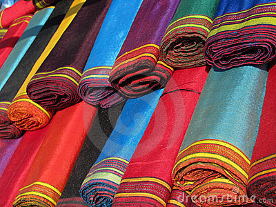 Oriental bazaar objects - ketene fabrics