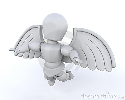 3d render of man with wings