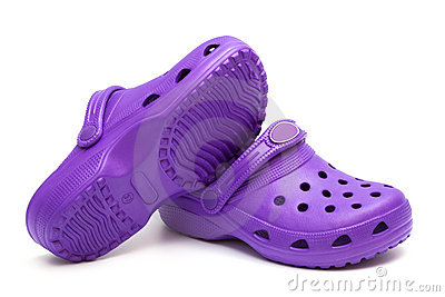 Purple shoes
