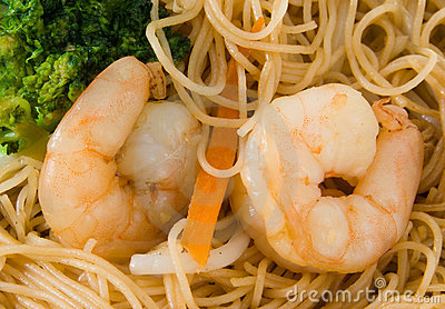 King Prawn and Rice Noodles
