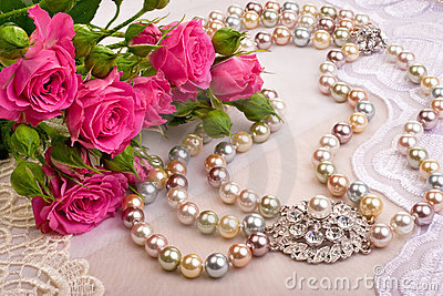 Roses and luxury closeup