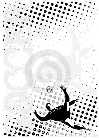 Soccer dots poster background 3
