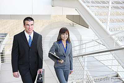 Business Team on Stairs