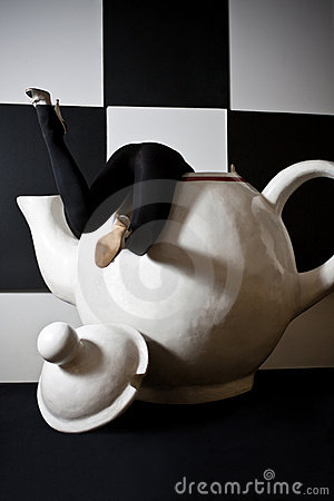 Trapped in a huge tea pot