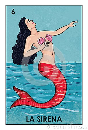 stock image of loterã­a mexicana - la sirena - high resolution image