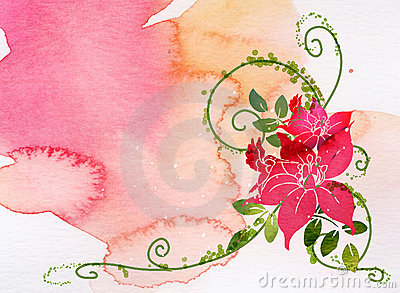 Watercolor of flower