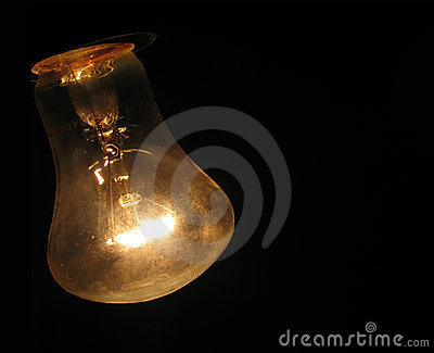 Bulb on black background