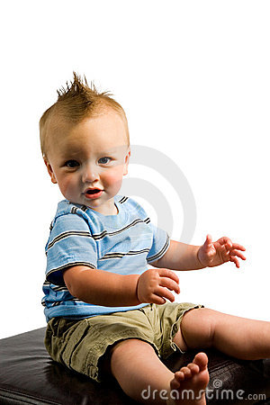 Baby Boy Portrait Isolated