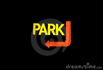 Neon Parking Sign
