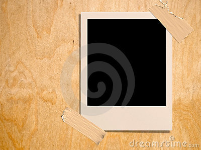 Photoframe on plywood