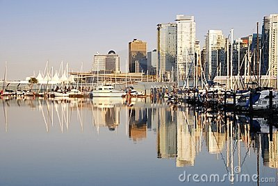 Day scene of downtown Vancouver