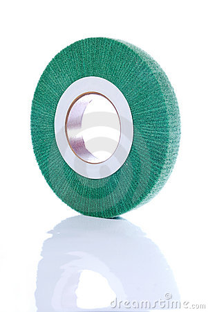 Green, abrasive wheel