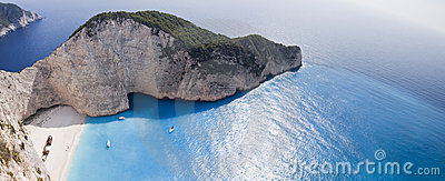 Navagio Beach Ionian Sea