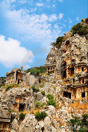 Antique architecture in Myra .Turkey.