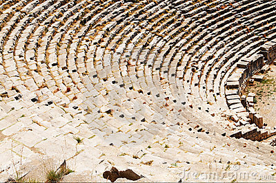 Ancient theater ruins in Myra, Turkey.