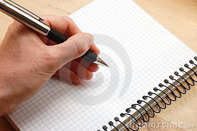 Hand write a message