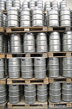 Barrels at an open storage