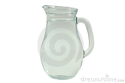 Glass vase with water