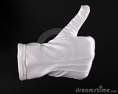 Hand in white glove