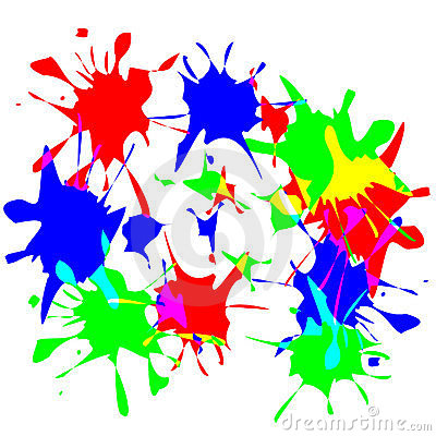 Paint splats