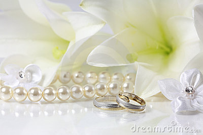 Two gold wedding