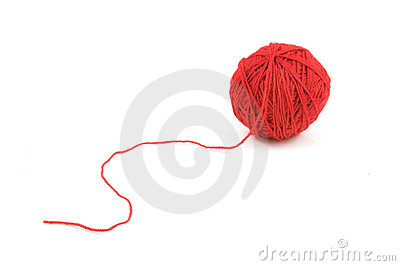 Ball of red threads