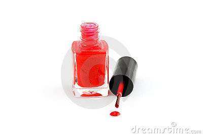 Red nail-varnish