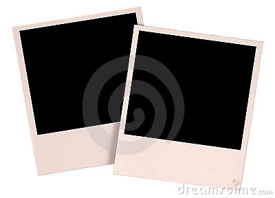 Two blank photos