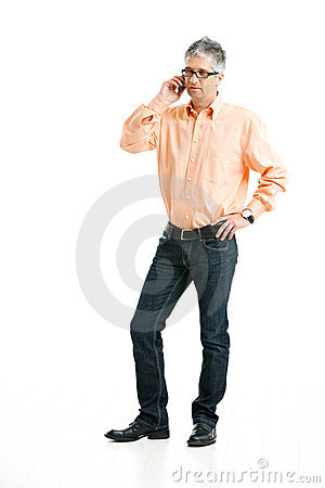 Man talking on mobile phone