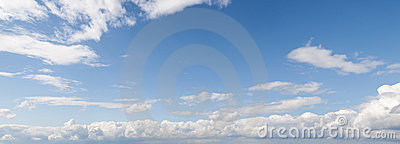 Panoramic cloudscape