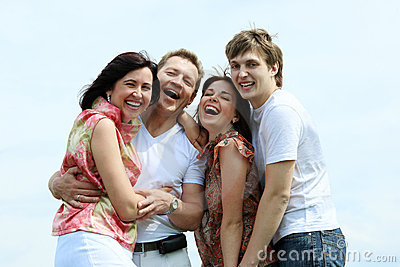 Laughing family