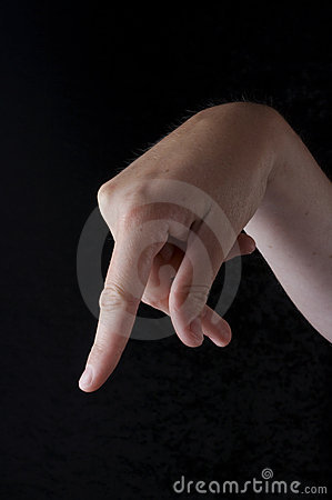 Stock photo of American Sign Language letter P